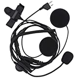 AOER 2-pin Jack Half Face Open Headset Earpiece for Two Way Radios Midland/Alan G226 G227 G300 G300M 75-510 75-785 75-786 75-810 LXT118 LXT118VP LXT210 LXT216 LXT276