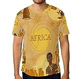 ALAZA Africa People T-Shirt Crewneck Top Tee