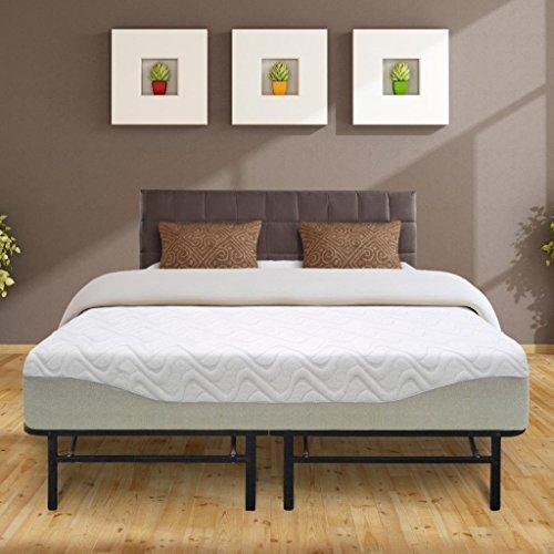 Best Price Mattress 11'' Gel-infused Memory Foam Mattress & 14'' Premium Metal Bed Frame Set, King by Best Price Mattress