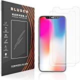 [NEW] Hammer.X iPhone X Screen Protector Glass [2-pack], 9H Tempered Glass Screen Protector for Apple iPhone X 2017, Limited Lifetime Replacement Warranty