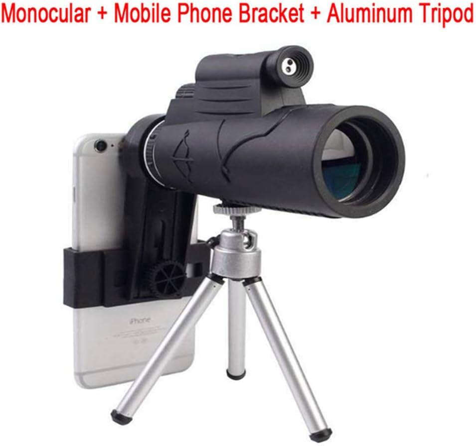 YHML De Alta Potencia Monocular Zoom 12X50 BAK4 Prisma Telescopio Binocular De Visión Nocturna Caza Scopes Catalejo con Láser De Luz Engranajes De Excursión