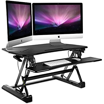 Amazon Com Adjustable Standing Desk Gas Spring Sit To
