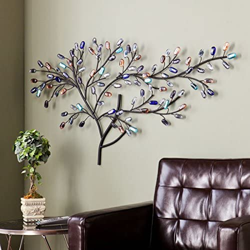 Harper Blvd Willow Multicolor Metal/Glass Tree Wall Sculpture