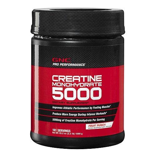 GNC Pro Performance Creatine Monohydrate 5000 Fruit Punch 2.2 lbs.