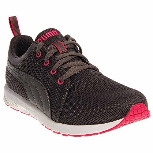 PUMA Carson Runner JR Sneaker (Little Kid/Big Kid) , Steel Gray/Fuchsia Purple, 1.5 M US Little Kid - Kid Running Sneaker