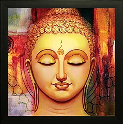 SAF Buddha Painting Exclusive Framed Wall Art Painting (Wood, 30 cm ...