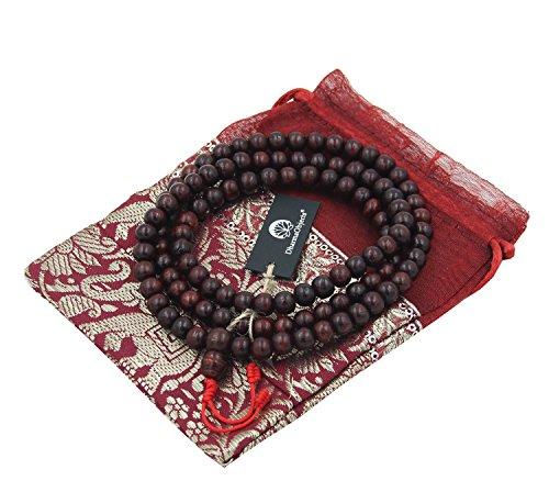 DharmaObjects Tibetan 108 Beads Rosewood Meditation Mala / Prayer Beads / Rosary