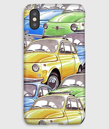 Fiat 500 Funda para el iPhone XS, XS Max, XR, X, 8, 8+, 7, 7+, 6S, 6, 6S+, 6+, 5C, 5, 5S, 5SE, 4S, 4,