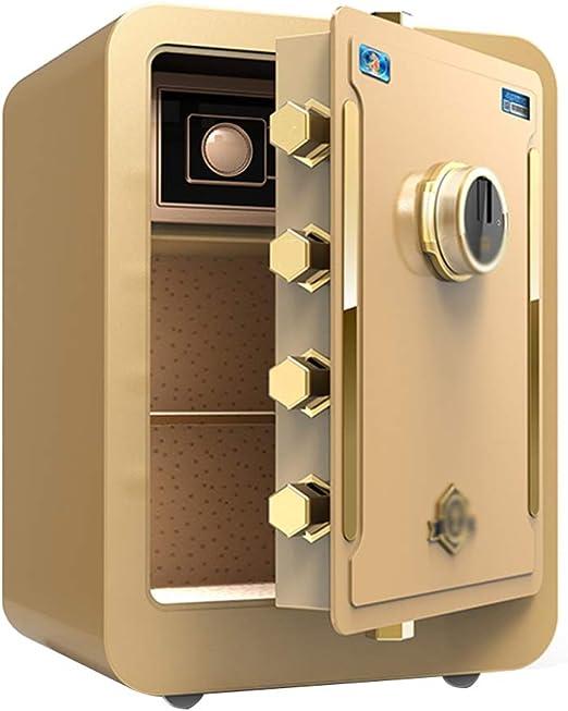 Convencionales Cajas Fuertes Caja Fuerte electrónica for el hogar con contraseña de Medio hogar pequeña Contraseña Segura Cajas Fuertes (Color : Gold, Size : 43 * 37 * 60cm): Amazon.es: Hogar