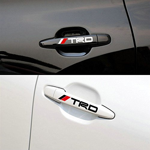2Pack Black and red AUTO-P Car Door Sticker Decal for TRD Toyota,