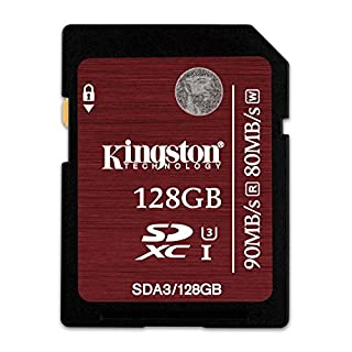 KINGSTON 128GB SDXC UHS-I SPEED CLASS 3 90MB/S READ 80MB/S WRITE FLASH CARD (SDA3/128GBCR) (B00Z6KWWHS) | Amazon Products