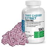 Bronson Tart Cherry Extract 2500 mg Premium Non-GMO Gluten Free Soy Free Formula, 180 Vegetarian Capsules For Sale