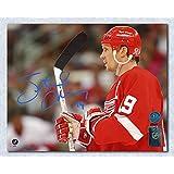Steve Yzerman Detroit Red Wings Autographed Horizontal Close Up 8x10 Photo