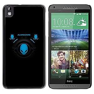 TopCaseStore / la caja del caucho duro de la cubierta de protección de la piel - Blue Aliens - HTC DESIRE 816