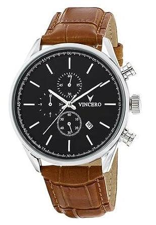 chrono-s Class schwarz-tan Armbanduhr mit italienischem Marmor CaseBack