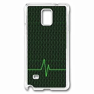01 Numbers Custom Back Phone Case for Samsung Galaxy Note 4 PC Material Transparent -1210454 WANGJING JINDA