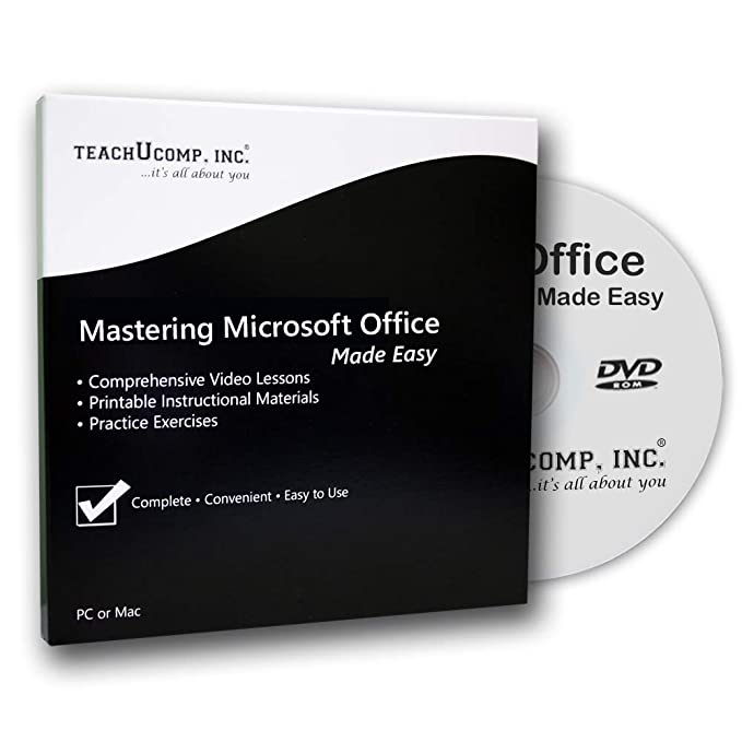 Learn Microsoft Office 2016 - 42 Hours of Video Training Tutorials for  Excel, Word, PowerPoint, Outlook, Access, OneNote and Publisher DVD-ROM  Course