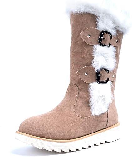 Bottes Femme Hiver Boots Plates Femmes Bottines Fourrées