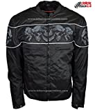 Dealer Leather Men's Textile Concealed Carry Racing Jacket with Reflective Skulls UNBEATABLE $$ (3XL Regular)
