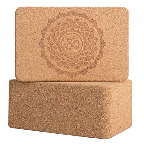 Peace Yoga Set of 2 Cork Wood Yoga Blocks