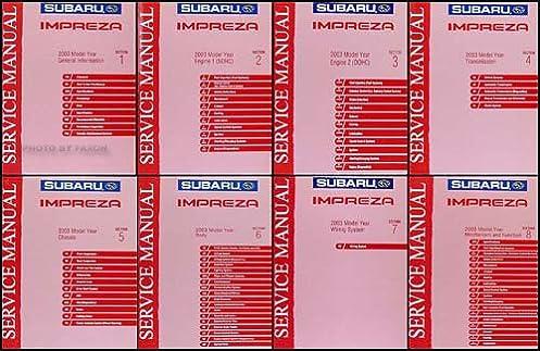 2003 subaru impreza wrx repair shop manual 8 volume set original rh amazon com 2015 subaru wrx service manual subaru wrx service manual download