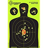 """25 Pack - 12""""x18"""" Silhouette Splatterburst Target - Instantly See Your Shots Burst Bright Florescent Yellow Upon Impact!"""
