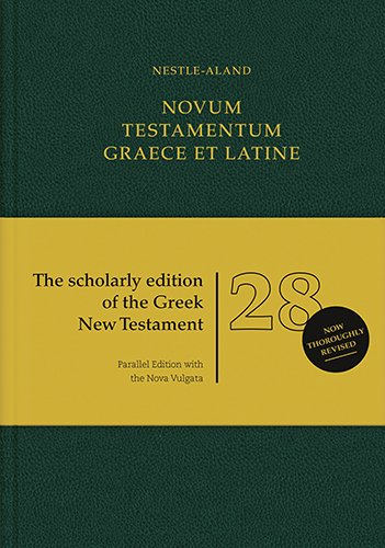 Novum Testamentum Graece Et Latine (Greek, Latin and German Edition)
