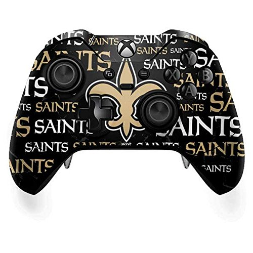 New Controller Saints Orleans (Skinit NFL New Orleans Saints Xbox One Elite Controller Skin - New Orleans Saints Black Blast Design - Ultra Thin, Lightweight Vinyl Decal Protection)