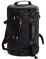 Mens Canvas Backpack Rucksack Shoulder Travel Hiking Camping Bag