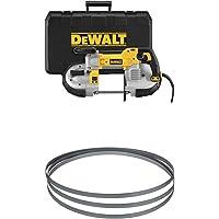 DEWALT DWM120K 10 Amp 5-Inch Deep Cut Portable Band Saw Kit with 24TPI Portable Band Saw Blade - 44-7/8-Inch, .020-Inch…