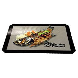 Professional Half Sheet Silicone Baking Mat Set 2 Pack Commercial Grade | Nonstick, Easy Clean for Cookies, Pastries, Meats & Candy 100% GUARANTEE!