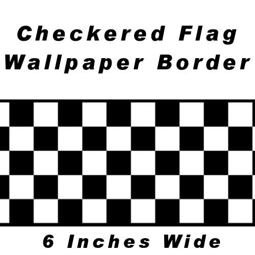 Checkered Flag Cars Nascar Wallpaper Border 6 Inch (Black Edge):  Amazon.co.uk: DIY U0026 Tools