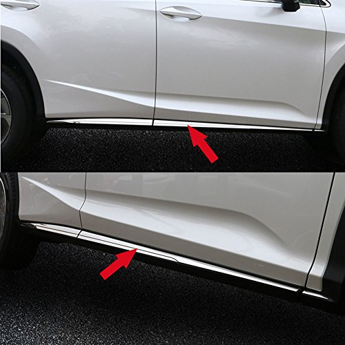 (Fit for Lexus New RX350 RX450H 2016 2017 2018 Body Side Door Molding Trim Overlay  Guard Cover Trims)