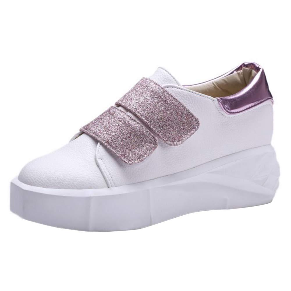 AicciAizzi Mujer Compens¨¦ Zapatos Sneakers 40.5 EU Rosado