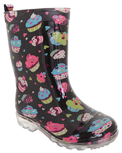 Printed York Rain Jelly Capelli Emoticons Grey Boots Girls New Black aIA4xHS