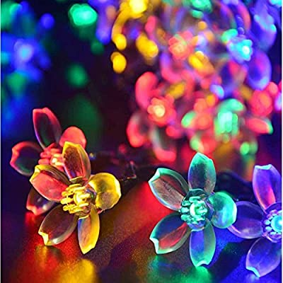 Ecoss 21ft 50 LED Multi-Color Fairy Blossom Christmas Lights Decorative Lighting for Indoor, Home, Garden, Patio, Lawn, Party and Holiday Decorations(Item # 249180)