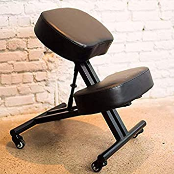SLEEKFORM Ergonomic Kneeling Chair, Adjustable Stool For Home And Office    Thick Comfortable Cushions