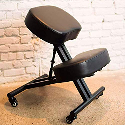 SLEEKFORM Ergonomic Kneeling Chair, Adjustable Stool For Home and Office - Thick Comfortable...