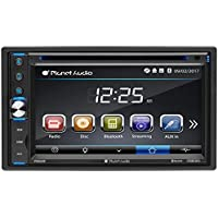 Planet Audio P9650B Double Din, Touchscreen, Bluetooth, DVD/CD/MP3/USB/SD AM/FM Car Stereo, 6.5 Inch Digital LCD Monitor, Wireless Remote
