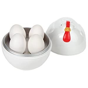 Home-X Microwave Chicken Design Egg Boiler