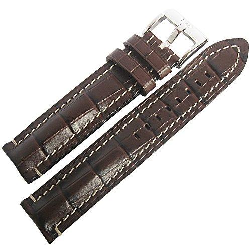 Louisiana Alligator Watch Strap - Di-Modell Bali Chrono 22mm Brown Alligator-Grain Leather Watch Strap