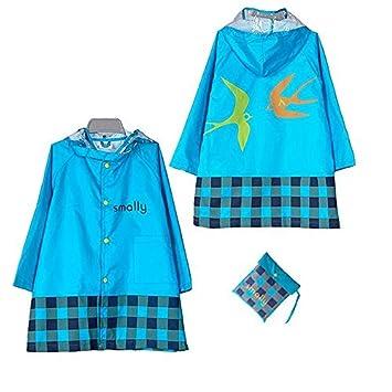 KUYOU Kid Rain Coat, Cartoon Waterproof Children's Raincoat Lightweight for Ages 3-12 Years Old Girls and Boys 4 Size
