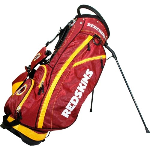 (Team Golf NFL Washington Redskins Fairway Golf Stand Bag, Lightweight, 14-way Top, Spring Action Stand, Insulated Cooler Pocket, Padded Strap, Umbrella Holder & Removable Rain Hood)