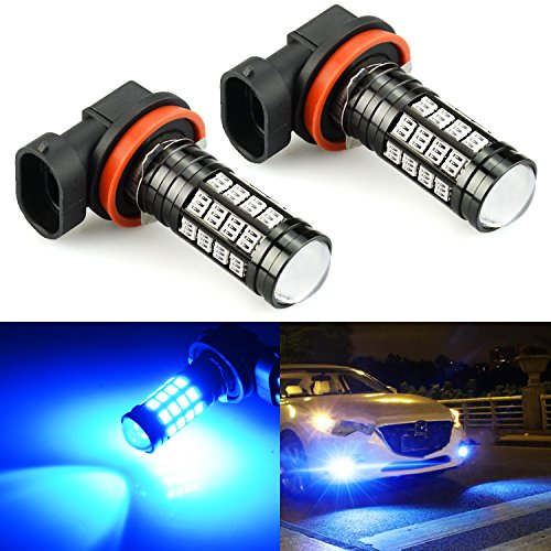 JDM ASTAR 2800 Lumens Extremely Bright 4014 Chipsets H11 H8 LED Fog Light Bulbs for DRL or Fog Lights, Ice Blue