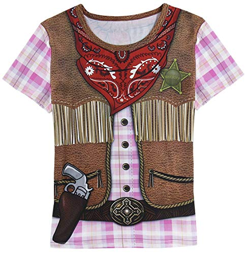 Funny World Women's Cowgirl Costume T-Shirts (L) -