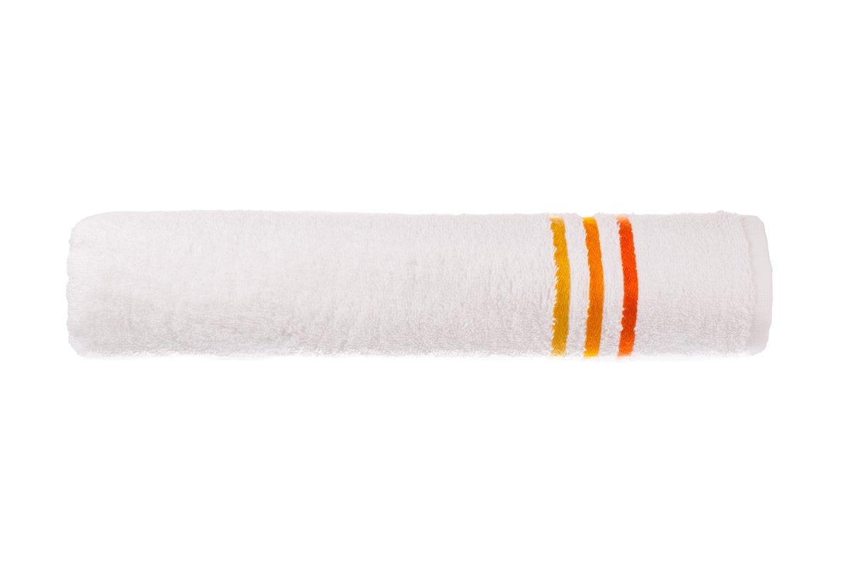 Schiesser 101099, Telo doccia Skyline, a righe, 70 x 140 cm, Bianco (Weiß)