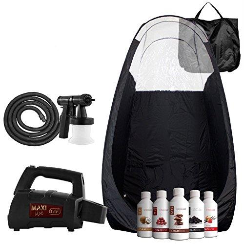 Maximist Lite Plus Complete Tanning System Kit - Includes Black Tent & Suntana Premium Sunless Solutions ()
