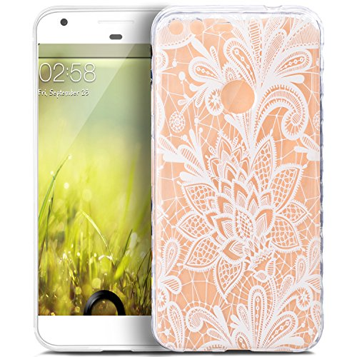 Price comparison product image Google Pixel Case,Google Pixel Cover,ikasus Scratch-Proof Ultra Thin Crystal Clear Rubber Gel TPU Shockproof Soft Silicone Bumper Protective Case Cover for Google Pixel,White Lace Flower