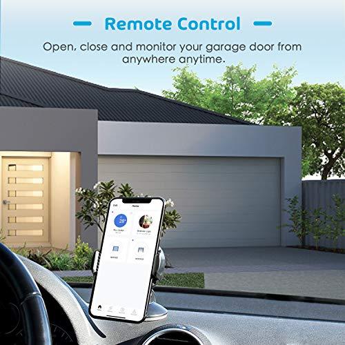 meross Smart Wi-Fi Garage Door Opener Remote, APP Control
