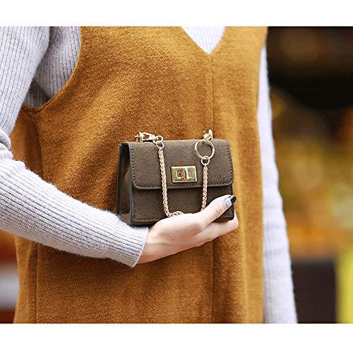 Mini Autunno Catena Piccola messenger Bag opaco 2018 Messenger Messenger Women pelle verde Fashion Nuova Baifuren The versione coreana Simple Wild in nOxZ8a
